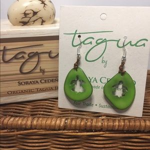 Tagua Hand Carved Earrings